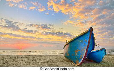 время, boats, восход