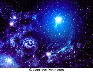 вселенная, задний план