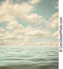 все еще, море, фото, поверхность, океан, воды, спокойный, задний план, aged, или
