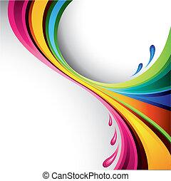 всплеск, дизайн, красочный