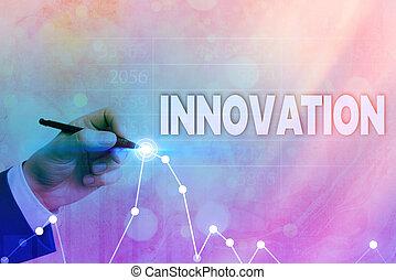 встретить, письмо, собирается, showcasing, заявление, лучше, фото, achievement., requirements, стрела, символ, бизнес, innovation., новый, показ, решения, заметка, вверх, значительное