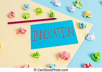 встретить, письмо, showcasing, заявление, цветной, лучше, напоминание, фото, requirements, papers, желтый, clothespin., пустой, бизнес, crumpled, innovation., новый, показ, синий, решения, заметка