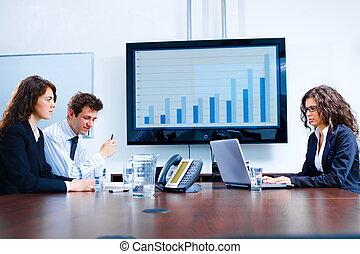 встреча, комната, бизнес, доска