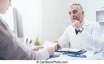 встреча, пациент, врач