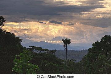 вулкан, америка, sangay, юг