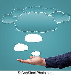 выбор, концепция, облако, вычисления