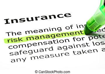 выделенный, 'risk, management', 'insurance', под