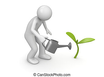 выращивание, росток