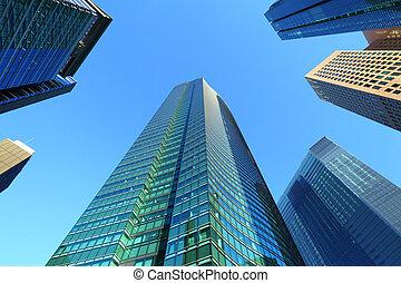высокая, здание, подъем