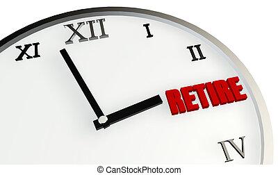 выход на пенсию, время