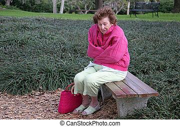 в одиночестве, старшая, гражданин, холодно, &