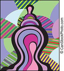 в полоску, абстрактные, задний план, форма, красочный