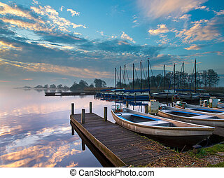 гавань, развлекательный, озеро