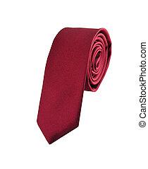 галстук, белый, isolated, задний план, красный