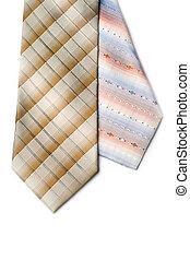 галстук, белый, isolated