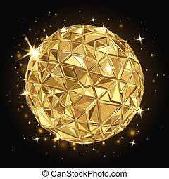геометрический, дискотека, мяч