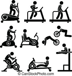 гимнастический зал, гимнастический зал, упражнение, фитнес
