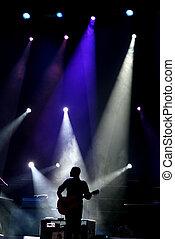 гитарист, сцена