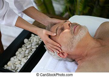 глава, спа, receiving, день, массаж, человек
