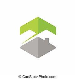 главная, гора, вектор, логотип