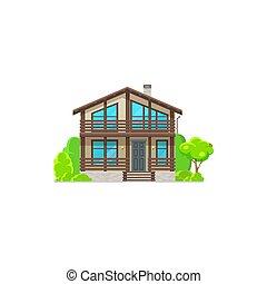 главная, дом, экстерьер, здание, жилой
