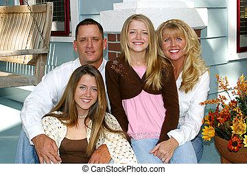 главная, семья, счастливый