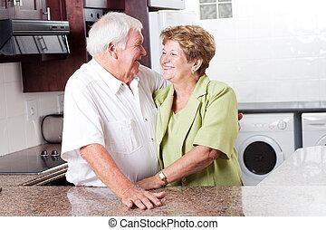 главная, старшая, пара, счастливый