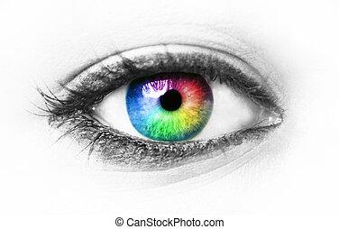 глаз, красочный