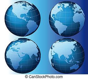 глобальный, мир, задавать, -, серии