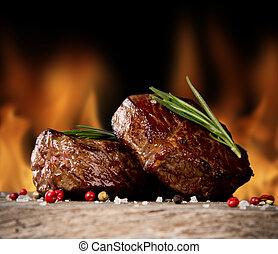 говядина, steaks