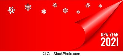 год, баннер, дизайн, новый, карта, рождество, 2021