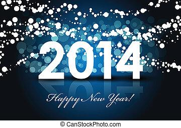 год, -, задний план, 2014, новый, счастливый