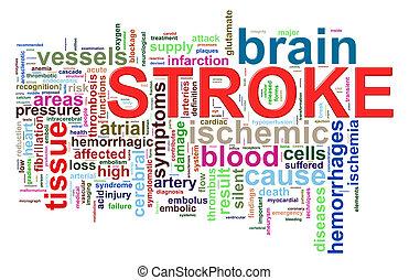 головной мозг, инсульт, слово, tags