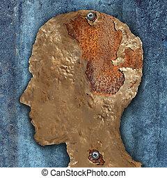 головной мозг, слабоумие, болезнь