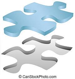 головоломка, головоломки, fits, дыра, кусок, белый