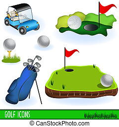 гольф, icons