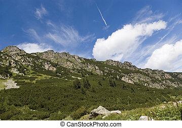 гора, clouds