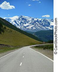 горный пейзаж, дорога