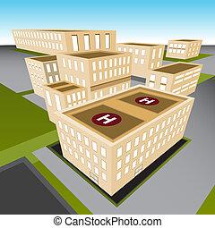 город, больница
