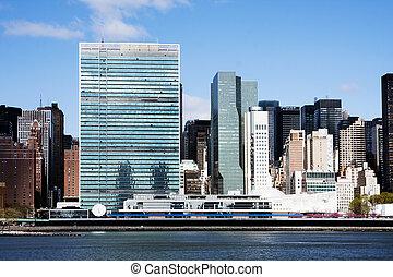 город, единый, -, главное управление, nations, йорк, новый