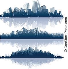 город, reflections