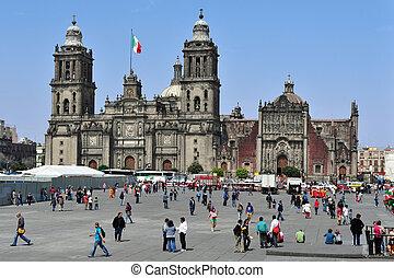 город, zocolo, мексика