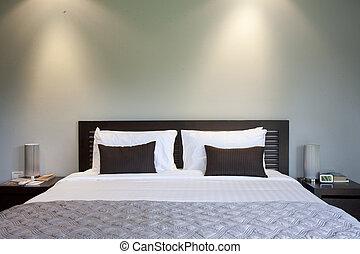 гостиница, комната, постель, ночь