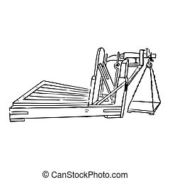 гравюра, weighing, масштаб, механический, марочный