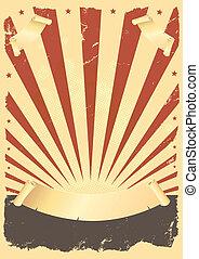 гранж, американская, плакат