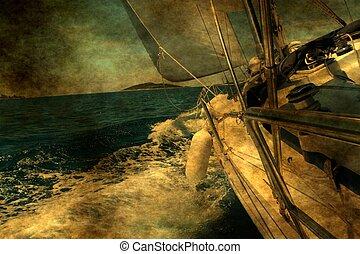 гранж, парусный спорт, лодка