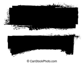 гранж, черный, баннер, чернила