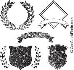 гранж, elements, баннер, логотип