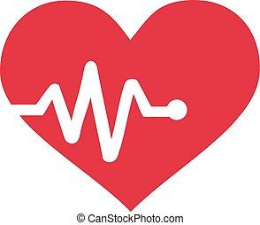 график, сердцебиение, сердце