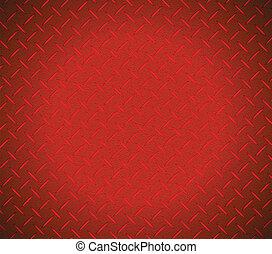 графический, текстура, металлический, дизайн, иллюстрация, красный